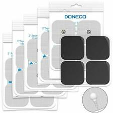"""DONECO 2"""" Square TENS Unit Electrodes Snap On Pads 12 Pairs 24Pads Electro Pa..."""