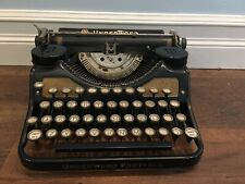 Antique Underwood Universal Portable Typewriter with Gold Inlays RARE