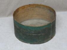 Antique Pantry Box w/ Old Green Paint Grain Measure Bent Wood Primitive