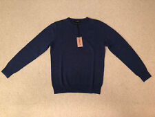 Jaeger Crew Neck Cashmere Jumper Navy Blue Brand New Size: S