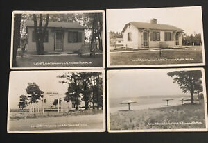 Lot Of 4 Traverse City Michigan RPPC Real Photo Postcards