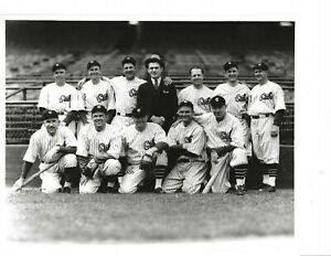 1930s Chicago Cubs Baseball George Brace Original 8x10 Group Photo Hack,Grimm