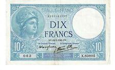 10 Francs MINERVE modifié FRANCE 1941 F.07-27 - SUP