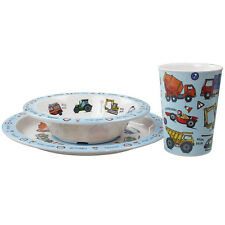 CHILDRENS TODDLER FIREMAN SAM    3 PC DINNER BREAKFAST SET PLATE BOWL CUP HANDLE