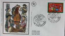 ENVELOPPE PREMIER JOUR - 9 x 16,5 cm - ANNEE 2000 - FOLKLORES