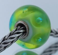 Authentic Trollbeads Retired Peter 61178 New Glass Charm Bead Lime Green