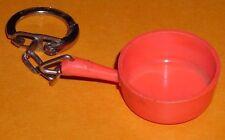 Porte-clé Poelle EMAIL-TERRE à FEU Poëlon AUBY  Superbe casserole plastic orange