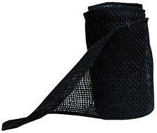 "BURLAP JUTE Mesh Ribbon BLACK 5.5"" x 15' Natural Unwired Dyed 5 Yard Roll  * NEW"