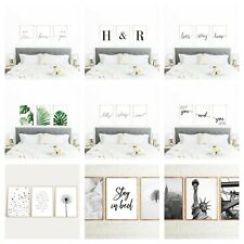 Mate Finish Set of 3 Bedroom Frameless Prints Wall Art Home Decor A4 A5 Size