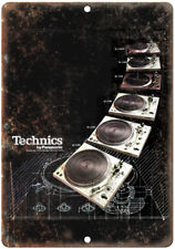 "Technics Turntable SL DJ Ghetto Blaster 10"" x 7"" Reproduction Metal Sign D115"