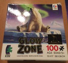Ceaco Kids Glow Zone 100 Piece Polar Bear Puzzle