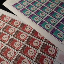 FEUILLE SHEET ALGÉRIE N°409/410 x25 UIT U.I.T. 1965 NEUF ** LUXE MNH COTE 69€