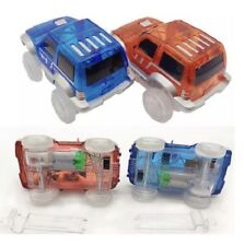 New 2 Cars for Magic Tracks Glow in the Dark Amazing Racetrack Light Up Car Race