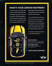 2008 2009 Mini Cooper Carfun Footprint Advertisement Print Art Car Ad K40