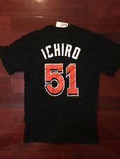 Ichiro Suzuki Miami Marlins Black T Shirt Tee Baseball Jersey Mens Medium M Nwt