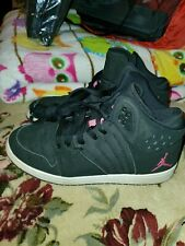Nike Air Jordan Flight Prem Gg Hi Top black w pink accents size Us 6.5Y preowned