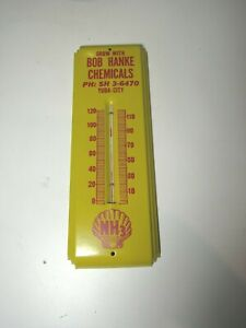 NOS Metal Shell Gas Vintage Thermometer Chemical Yuba city California