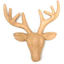 Shamrock Craft Papier Mache Deer Head With Antlers by Spotlight