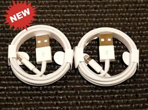 2x OEM Original Fast Charger Cable Charging Cord For iPhone 5 6 7 8 10 11 12 Max