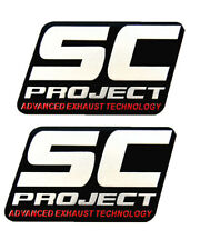 2PC Racing SC Aluminium Motorcycle Exhaust Pipes Scooter Muffler Sticker Decal