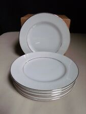 Embassy Japan Touch Of Gold China White Floral Scroll (6) Bread & Butter Plates