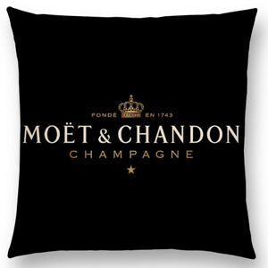 2xBlack/Gold Linen Luxury Decorative Cushion cover Home Decoration