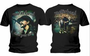 MOTÖRHEAD CLEAN YOUR CLOCK T-Shirt Offizielles Merchandise GRöße S - XL NEU