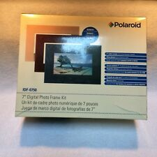 "7"" Digital Picture Frame BLACK Polaroid IDF-0750 Widescreen NEW in Box"
