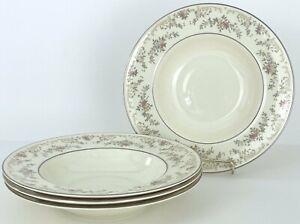 "Royal Doulton Diana Rim Soup Bowls 8 1/8"" H5079 England Near Mint (Set of 4)"