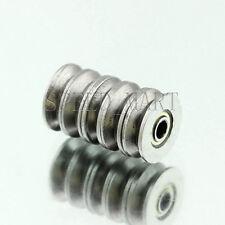 5 pcs V623ZZ 623VV V Groove Guide Pulley Rail Ball Bearings Metal (3mm*12mm*4mm)