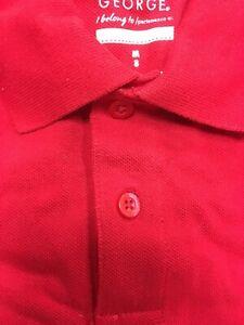 George Boys School Uniforms Long Sleeve Pique Polo Shirt size color options