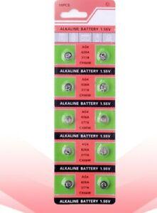 AG4 also known as SR626SW, SR66, SR626, LR626, Alkaline Button Batteries-10pc