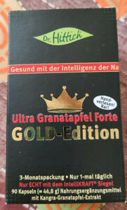 Dr. Hittich Ultra Granatapfel Forte Gold Edition ~ MHD 03/22 ~ 90 Kapseln ~ NEU