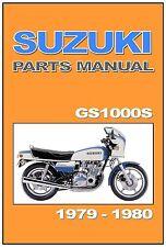 SUZUKI Parts Manual GS1000 GS1000S 1979 1980 Replacement Spares Catalog List