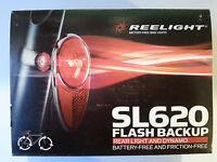 New Reelight SL621 flash backup basket front bike light /& dynamo no batteries