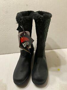 Totes Jonie Womens Black Waterproof Winter Boots Size 8