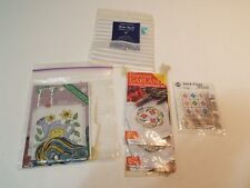 Lot of 5 counted cross stitch kit & embroidery kit fabric free shipping