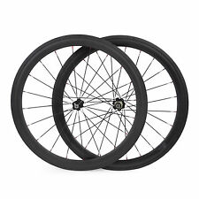 50mm Tubular Carbon Bike Wheels Carbon Road Bicycles Wheel Front &Rear 23mm wide