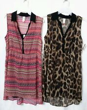 (2) JUNIORS NWT SHIRT DRESSES WITH CAMI SIZE XL 15/17