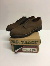 Vintage HS Trask Sidekick Oxfords Men's Sz 7.5 M Brown Nubuck Leather USA