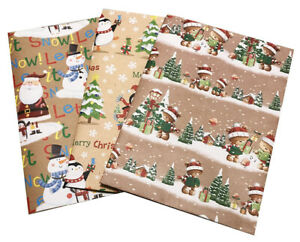 Kids Christmas Wrapping Paper, 2, 5 sheets, Presents Flat Gift Wrap, 3 designs
