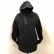 NWT New Nike 805655-010 Men's Tech Fleece Half-Zip Long Hoodie Large Black $225