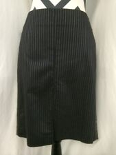 Guess Collection Pinstripe MNL Black Dressy Women's Skirt Size 6 NWT $98