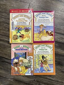 Henry and Mudge Ready To Read Books Lot of 4 Cynthia Rylant Paperback Hardcover