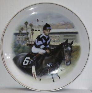 1996 Santa Anita Bill Shoemaker Collector Plate (10 inch) White E5178