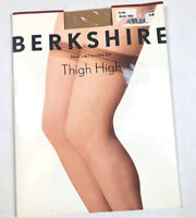 Berkshire Womens A-B Small Vintage 80s Stockings Nude Thigh High Hose Tights