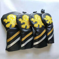 4x Gold Skull Design Driver Fairway Wood Hybrid Headcover For Taylormade Mizuno