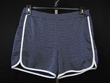 Tommy Hilfiger Pipe Trim Polka Dot Print Casual Shorts Size 10 Navy Blue #1536