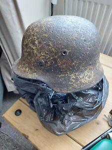 Ww2 German Heer Winter Camo Helmet, SD, Partial Liner,