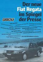 Fiat Regata Prospekt Pressespiegel 1983 11/83 brochure prospectus broschyr Auto
